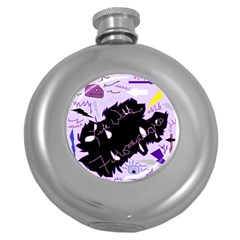 Life With Fibromyalgia Hip Flask (Round)