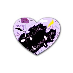Life With Fibromyalgia Drink Coasters 4 Pack (Heart)