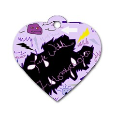 Life With Fibromyalgia Dog Tag Heart (Two Sided)