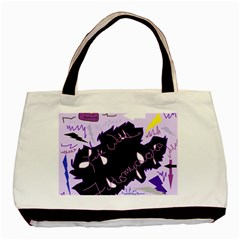 Life With Fibromyalgia Twin-sided Black Tote Bag
