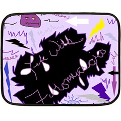 Life With Fibromyalgia Mini Fleece Blanket (Two Sided)