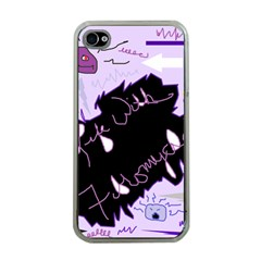Life With Fibromyalgia Apple iPhone 4 Case (Clear)