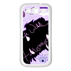 Life With Fibromyalgia Samsung Galaxy S3 Back Case (White)