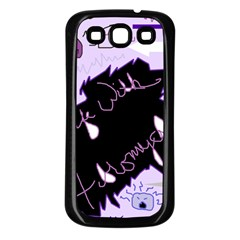 Life With Fibromyalgia Samsung Galaxy S3 Back Case (Black)