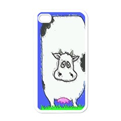 Cow Apple iPhone 4 Case (White)