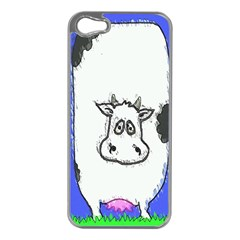 Cow Apple iPhone 5 Case (Silver)