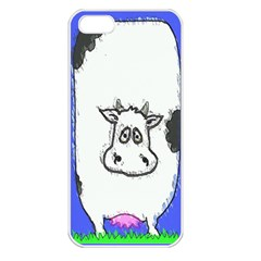 Cow Apple Iphone 5 Seamless Case (white)