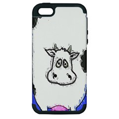 Cow Apple iPhone 5 Hardshell Case (PC+Silicone)