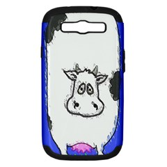 Cow Samsung Galaxy S Iii Hardshell Case (pc+silicone)