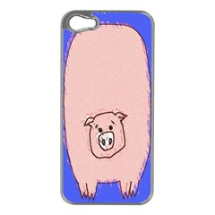 Pig Apple iPhone 5 Case (Silver)