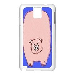 Pig Samsung Galaxy Note 3 N9005 Case (White)