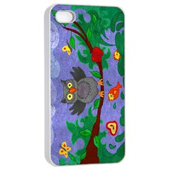 Owl  Apple iPhone 4/4s Seamless Case (White)