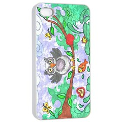 Stained Apple iPhone 4/4s Seamless Case (White)