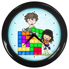 With You Life Just Fits Wall Clock (Black)