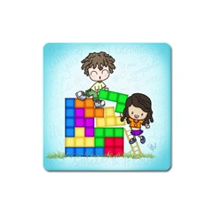 With You Life Just Fits Magnet (Square)
