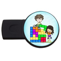 With You Life Just Fits 2gb Usb Flash Drive (round)