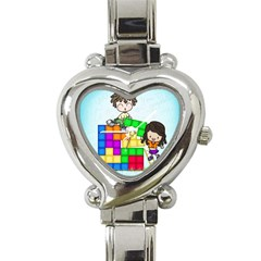 With You Life Just Fits Heart Italian Charm Watch