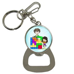 With You Life Just Fits Bottle Opener Key Chain