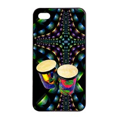 Bongo Drums Apple Iphone 4/4s Seamless Case (black)