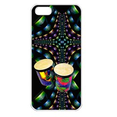 Bongo Drums Apple Iphone 5 Seamless Case (white)