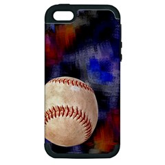 Baseball Apple iPhone 5 Hardshell Case (PC+Silicone)