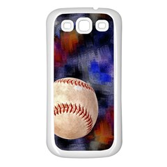 Baseball Samsung Galaxy S3 Back Case (White)