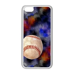 Baseball Apple iPhone 5C Seamless Case (White)