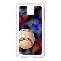 Baseball Samsung Galaxy Note 3 N9005 Case (White)