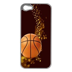 basketball Apple iPhone 5 Case (Silver)