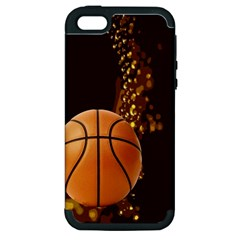 Basketball Apple Iphone 5 Hardshell Case (pc+silicone)