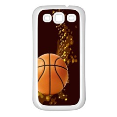 basketball Samsung Galaxy S3 Back Case (White)