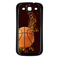 basketball Samsung Galaxy S3 Back Case (Black)