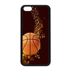 basketball Apple iPhone 5C Seamless Case (Black)