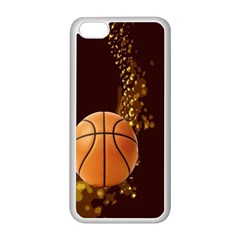 basketball Apple iPhone 5C Seamless Case (White)