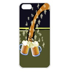 Beer Lover Apple iPhone 5 Seamless Case (White)