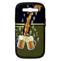 Beer Lover Samsung Galaxy S III Hardshell Case (PC+Silicone)