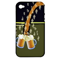 Beer Lover Apple iPhone 4/4S Hardshell Case (PC+Silicone)
