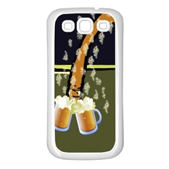 Beer Lover Samsung Galaxy S3 Back Case (White)
