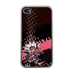 Flower Apple iPhone 4 Case (Clear)