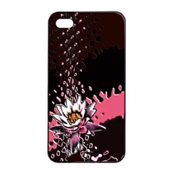 Flower Apple iPhone 4/4s Seamless Case (Black)