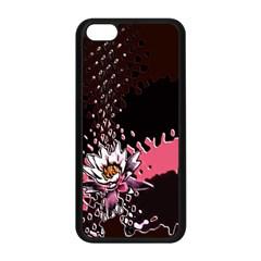 Flower Apple iPhone 5C Seamless Case (Black)