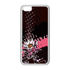 Flower Apple iPhone 5C Seamless Case (White)