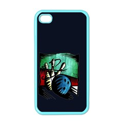 Bowling Apple Iphone 4 Case (color)