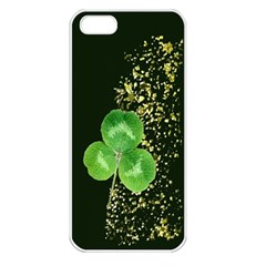 Clover Apple iPhone 5 Seamless Case (White)