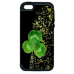 Clover Apple Iphone 5 Hardshell Case (pc+silicone)