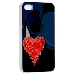 Petal Heart Apple Iphone 4/4s Seamless Case (white)