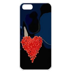 Petal Heart Apple iPhone 5 Seamless Case (White)