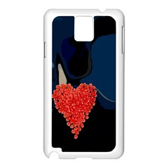 Petal Heart Samsung Galaxy Note 3 N9005 Case (White)