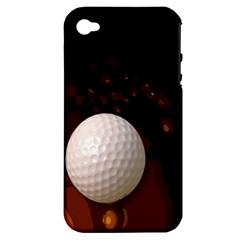 Golfball Apple iPhone 4/4S Hardshell Case (PC+Silicone)