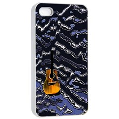 Sound Waves Apple Iphone 4/4s Seamless Case (white)